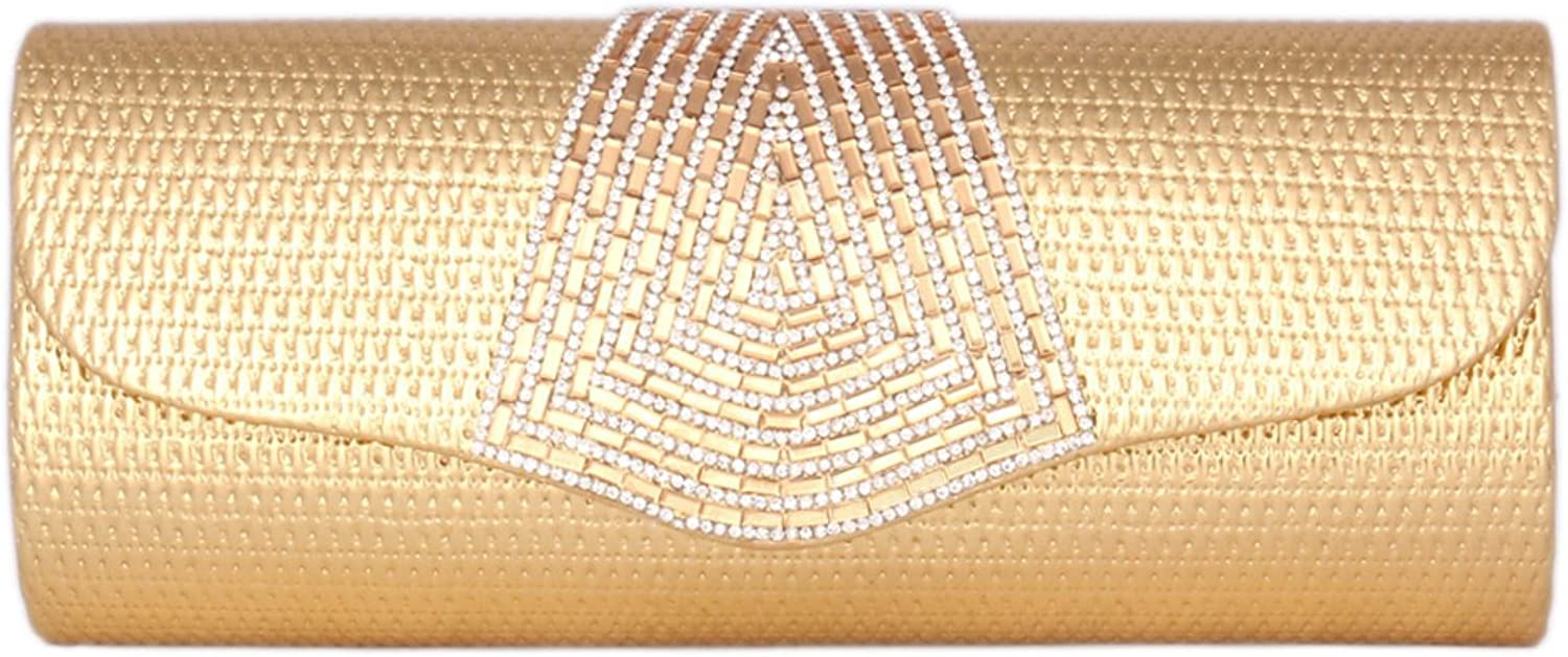Day of Saturn Women's Long Flap Over Rhinestones Evening Bag