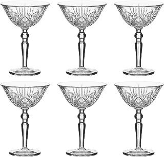Nachtmann Cocktailschale Palais 230 ml, Kristallglas mit Schliffdesign 6 Stück