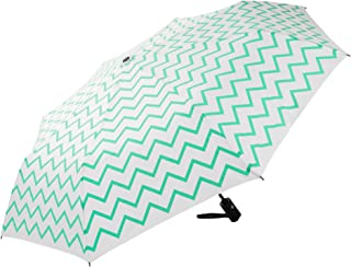 Mosiso Travel Umbrella, Outdoor Auto Open/Close Windproof Tested 55MPH Sturdy Compact Folding Rain Umbrella for Men and Women, Hot Blue Water Ripple