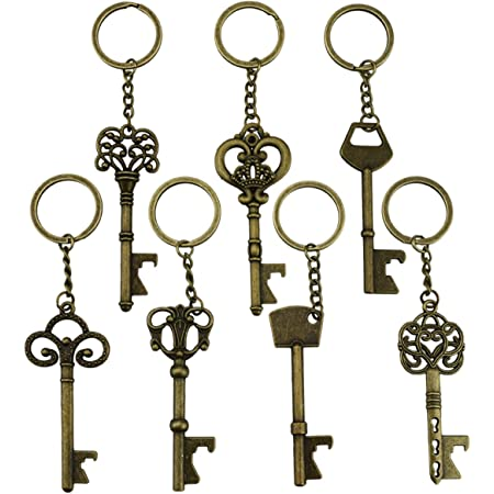 Key Bottle Opener Bronze Keyring vintage key beer opener
