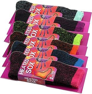 4Pairs Womens Women Thick Winter Warm Thermal Heated Heat Cushion Work Socks Bulk