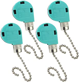 Luckkyme ZE-268S6 & ZE-208S6 Switch 3 Speed Pull Chain Control Fan Switch,4 Wire Replacement Switch for Zing Ear Ceiling Fan, Appliances,Lamps(Green,4Pcs)