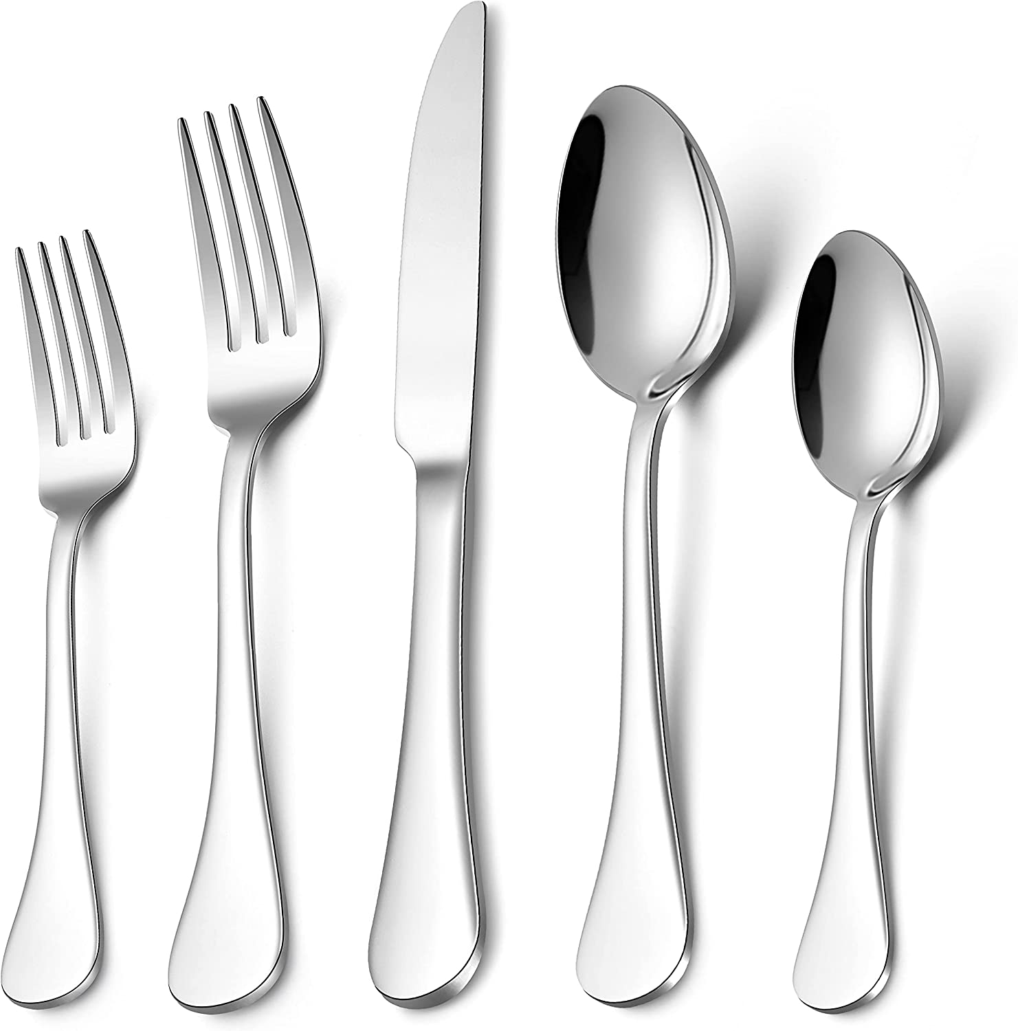 LIANYU 40-Piece 18 10 safety Flatware Steel Stainless Super Special SALE held Set Silver Fancy