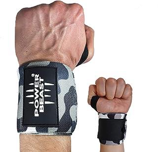 Power Beast Muñequeras Crossfit | Wrist Wraps Elásticas para Pesas, Gym, Fitness, Calistenia, Musculación, Halterofilia | ...