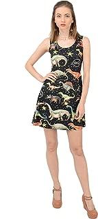 CowCow Womens Dinosaur Tyrannosaurus Jurassic Fossil Sleeveless Dress, XS-5XL