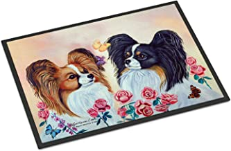 "Caroline's Treasures 7272MAT Papillon Indoor Outdoor Doormat, 18"" x 27"", Multicolor"