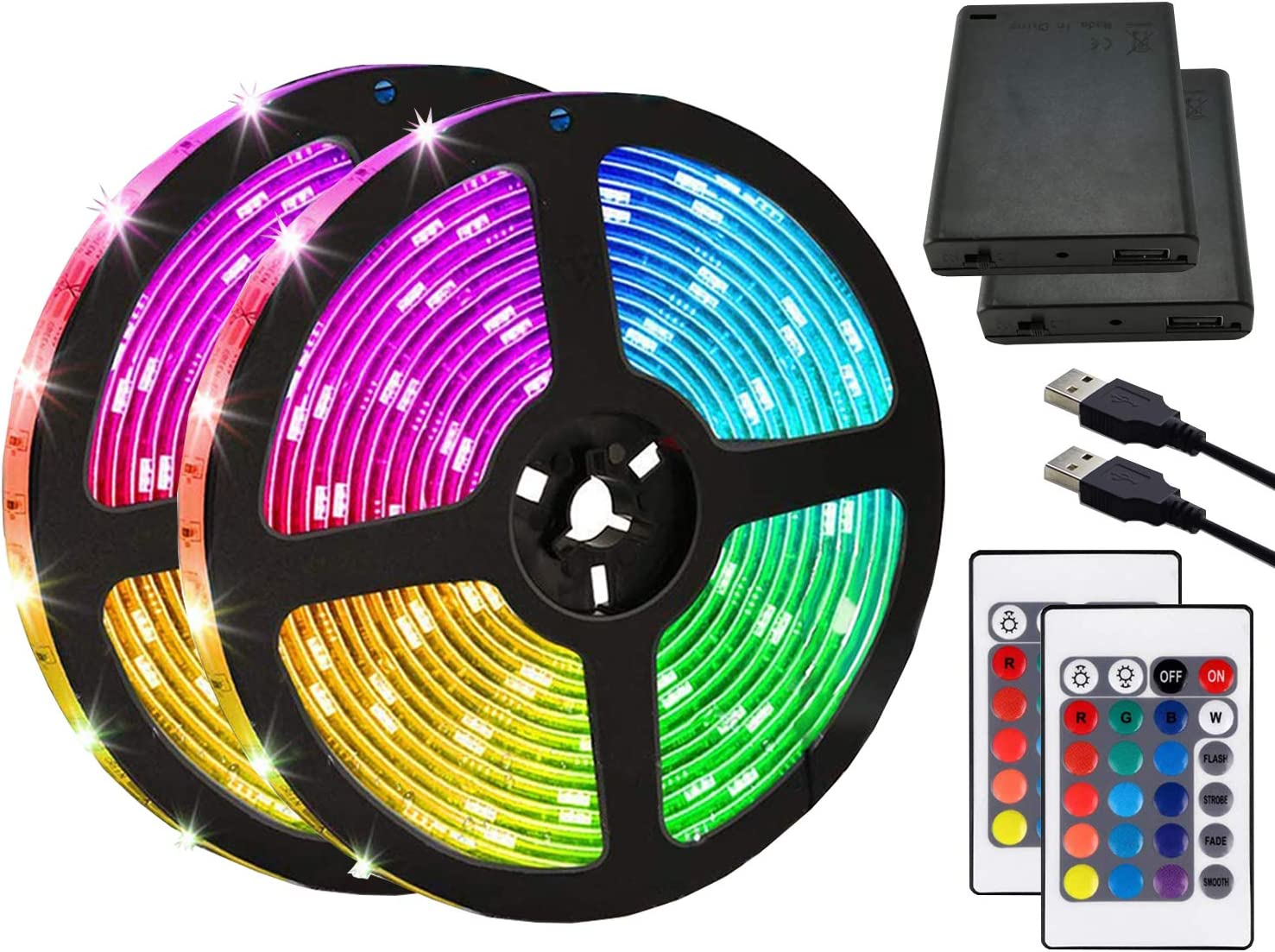 LED Strip Lights Battery Powered 2M Daily bargain sale Light 6.5FT Limited time trial price RGB S