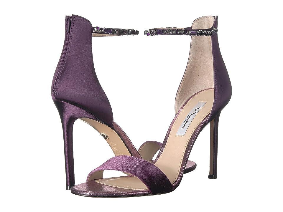 Nina Deena 2 (Eggplant Velvet/Satin) High Heels