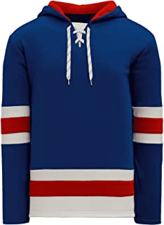 New York Skate Lace Athletic Pro Hockey Jersey Hoodie - Royal