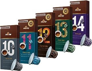 Elite Coffee Nespresso Compatible Coffee Capsules - The Strong Stuff. Compatible with Nespresso OriginalLine Machine, 5 Strong Blends, 50 Capsules
