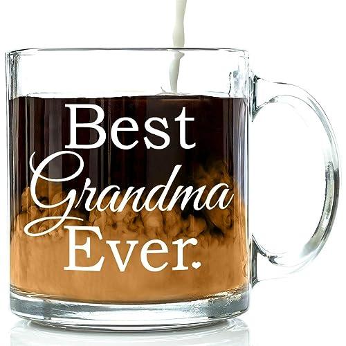 Best Grandma Ever Glass Coffee Mug 13 Oz
