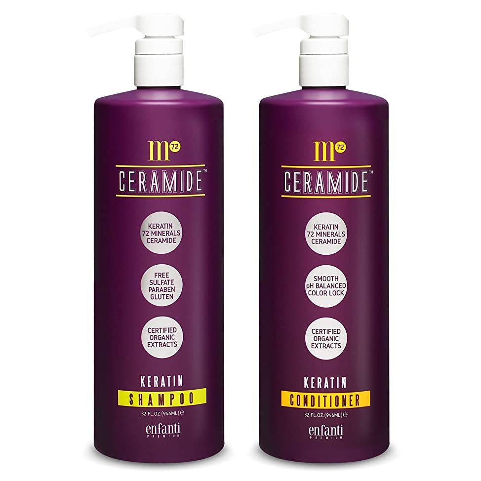 M72 Ceramide Keratin Shampoo & Conditioner 32 oz - Duo Set