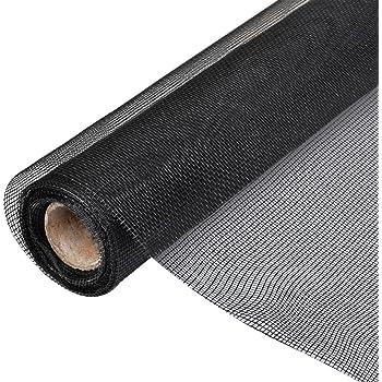 Au Mètre Noir O gris moustiquaire protection insectes tissus en fibre de verre Gaze