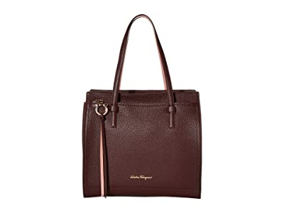 Salvatore Ferragamo Amy Satchel (Wine) Handbags