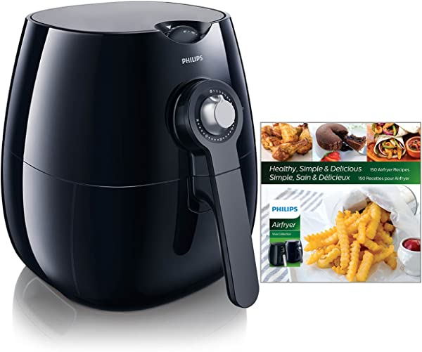 Philips Starfish Technology Airfryer With Cookbook Black 1 8lb 2 75qt HD9220 28