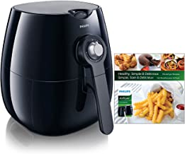 Philips Analog Airfryer, Viva Collection Fry Healthy with 75% Less Fat, Black, HD9220/28