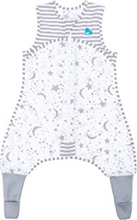 Love To Dream Sleep Suit, 0.2 TOG, Gray, 12-24 Months, Premium All-in-one Wearable Blanket That can't be Kicked Off, Legs with 2-in-1 feet Perfect for Sleep & Play, Ideal for Active Toddlers