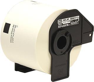 マックス ラベル 上質感熱紙 ダイカットラベル ラベルプリンタ用 ELP-L6257N-17