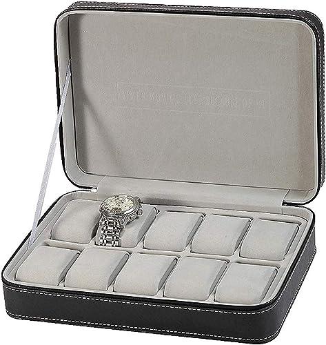 Styleys Travel Watch Storage Case Zipper Wristwatch Box Organizer