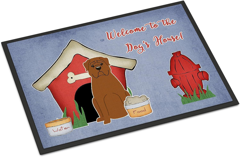 Caroline's Treasures BB2827JMAT Dog House Collection Dogue de Bourdeaux Indoor or Outdoor Mat, 24 x 36 , Multicolor