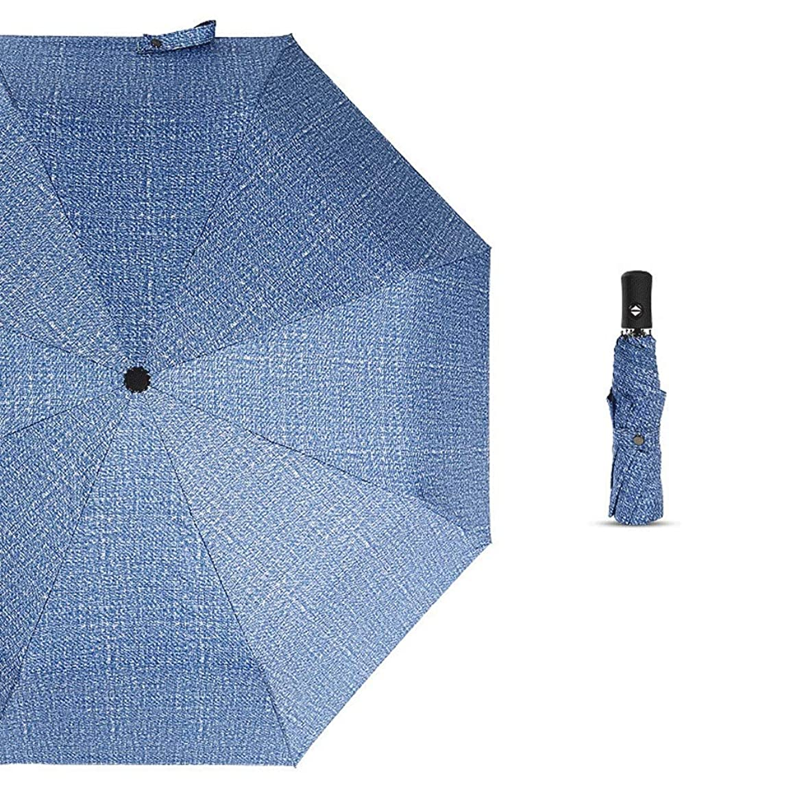 AZZ Fully Automatic Small Folding Umbrella,Compact Folding Lamp Portable Sun Protection Rain Outdoor Golf Umbrella,Female Men's Children (Color : Blue)