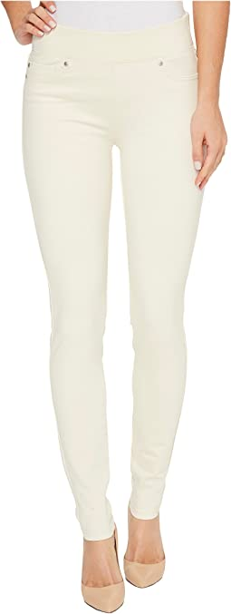 Piper Hugger Pull-On Leggings in Silky Soft Ponte Knit with Lift and Shape Qualities in White Whisper