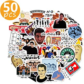 HAHII Friends TV Show Stickers for Water Bottles - Upgraded to 50 Pcs Premium Vinyl & Waterproof Laptop Stickers for Skateboard Luggage Computer Car Bumper Phone Motorcycle.(Series B)