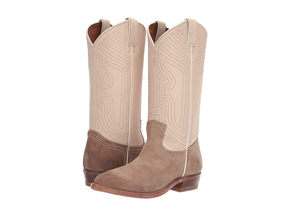 Frye Billy Stitch Pull-On (Off-White Multi Soft Full Grain/Oiled Suede) Women
