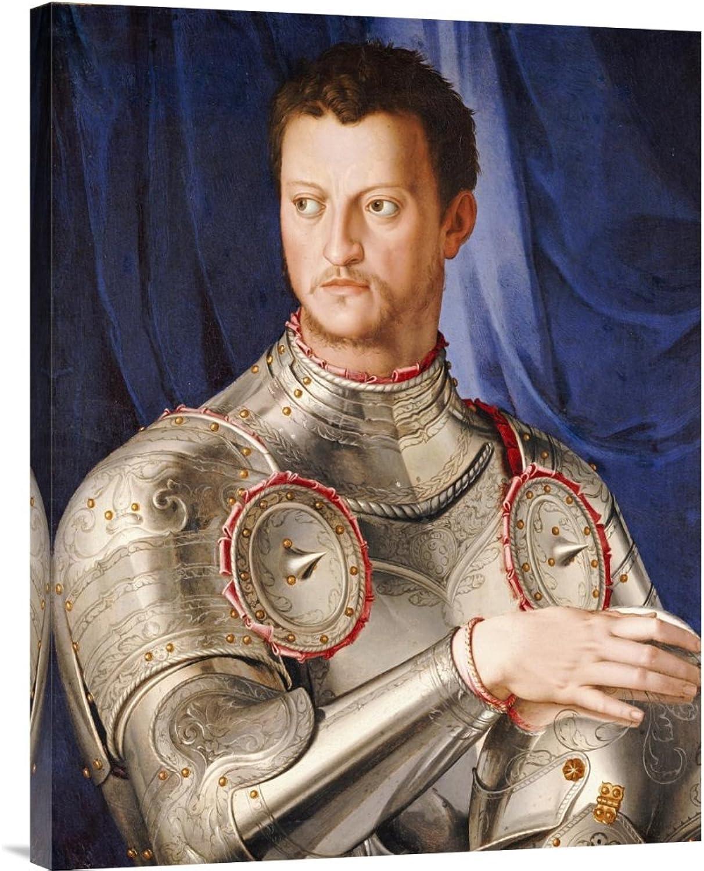 Global Galerie Budget gcs-265996–76,2–360,7 cm Agnolo Agnolo Bronzino Portrait Of Duke Cosimo I de 'Medici Galerie Wrap Giclée-Kunstdruck auf Leinwand Art Wand B01K1QPTLC | Online Outlet Shop