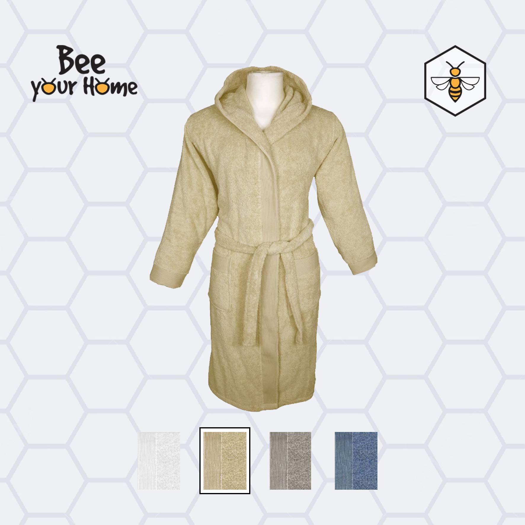 BeeYourHome - Albornoz con capucha de suave rizo 100% algodón para hombre y mujer, disponible en varias tallas y colores: Amazon.es: Hogar