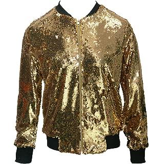 YUNAR Women Sequin Glittery Clubwear Bomber Jacket