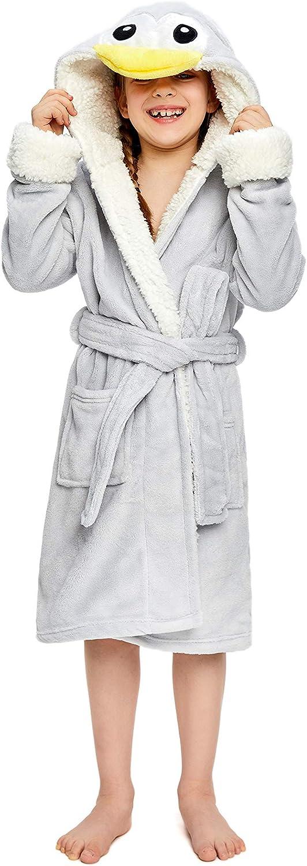 NEWCOSPLAY Unisex Bathrobe Childrens Animal Hooded Sleepwear