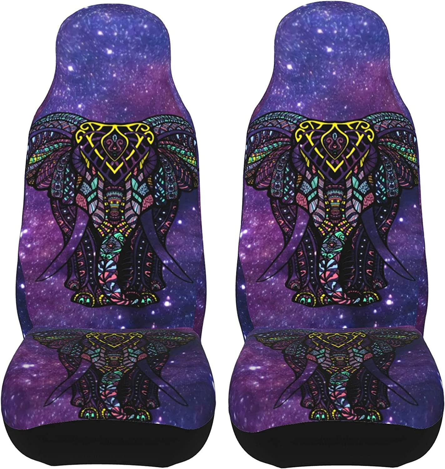 Galaxy Elephant Car Seat Covers Front Waterproof Max 45% OFF Boho Universal Ranking TOP14
