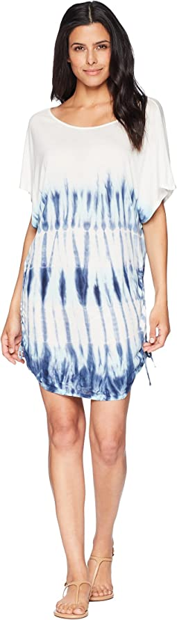 Costa Azul Side Shirred Tunic Cover-Up