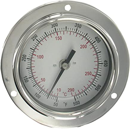 REOTEMP AA0601F69 Stainless Steel Bi Metal Thermometer Back Mount 6 Stem 1//2 NPT Connection 3 Dial REOTEMP Instrument 50 to 550 Degrees F 1//2 NPT Connection 3 Dial 6 Stem