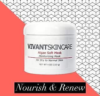 Vivant Skin Care Algae Soft Mask | Aloe Vera Natural, Bioactive and Antioxidant Ingredients, Restorative Clarifying Mask | 4 Fluid ounce