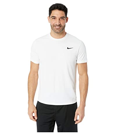 Nike NikeCourt Dri-FIT Short Sleeve Tennis Top (White/White/White) Men