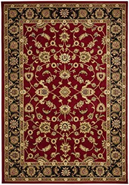 Classic Floor Rug Covering Large Carpet Flooring Rugs Red with Black Border 150x80cm