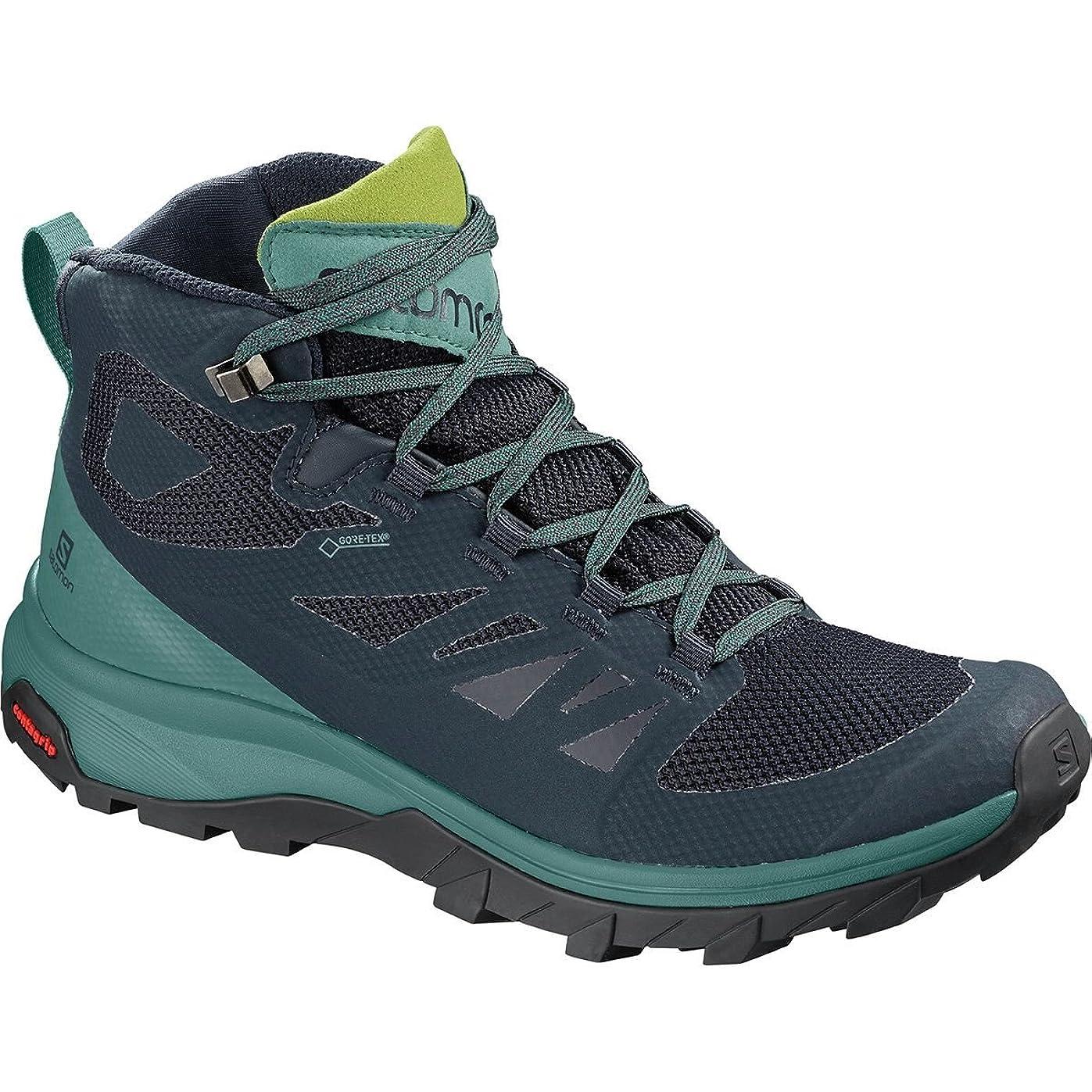 結果として幸運なことに勝者[サロモン] レディース ハイキング Outline Mid GTX Hiking Boot - Women's [並行輸入品]