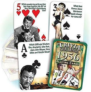 Flickback 1956 Trivia Playing Cards: Birthday Gift
