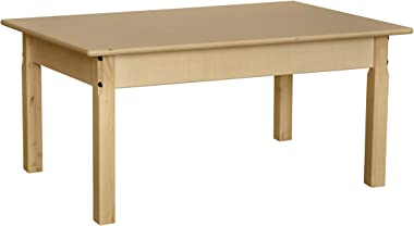 """Contender Plywood Rectangular Activity Play Table for Kids 24""""x 36"""" with 22"""" Legs, Ideal Table for Playroom/Daycare/Preschool"""