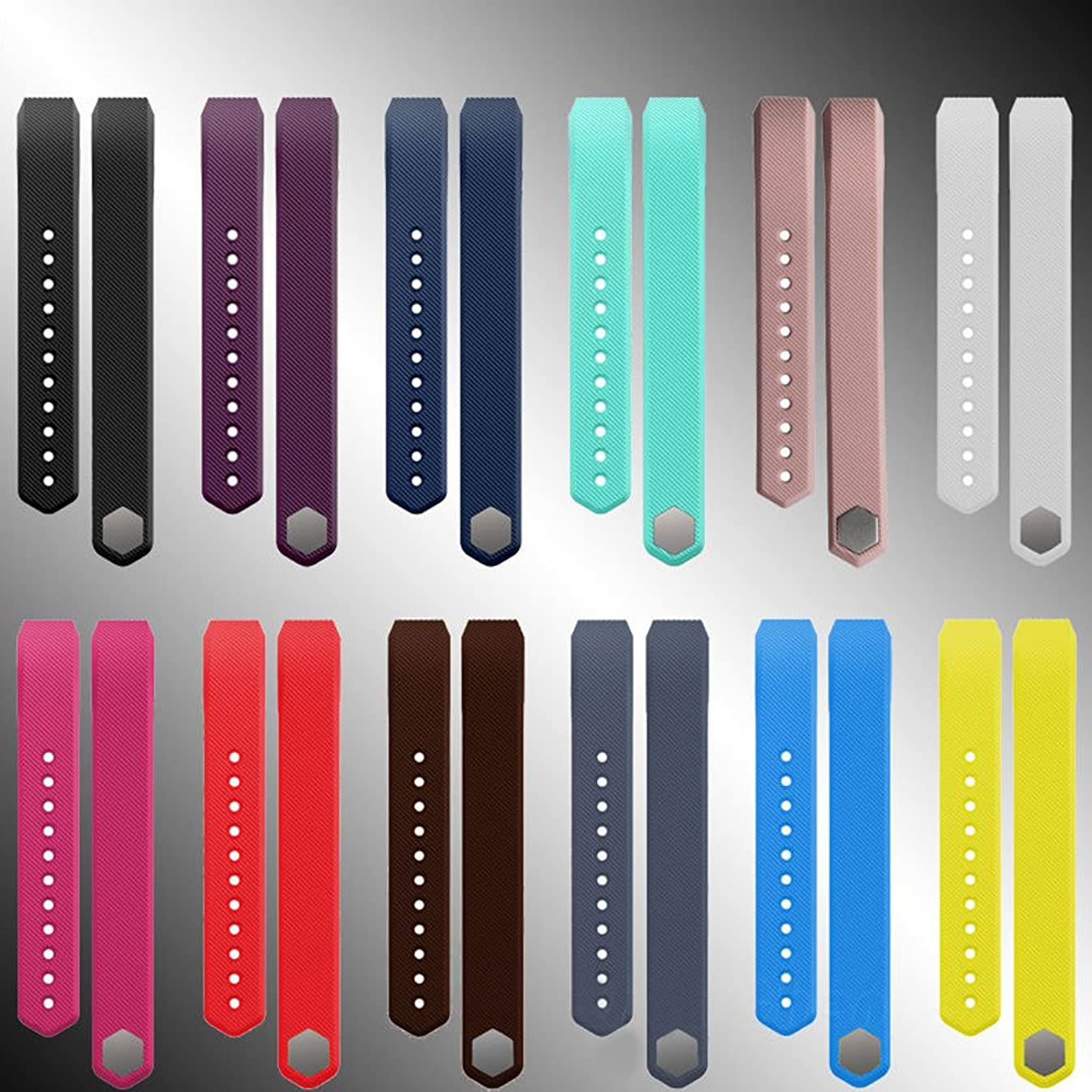 アプト八気分が良いsharprepublic シリコーンソフト調節可能な交換用手首の時計バンド Fitbitアルタ用