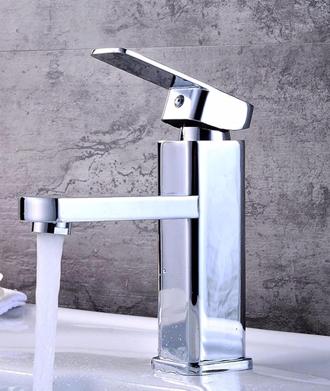Fy.Zck Wasserhahn Zapfhahn Mischbatterie Armatur Kupfer, Waschbecken, Badezimmer, Einzigen Griff, Einloch, Hei Und Kalt, Wasserhahn