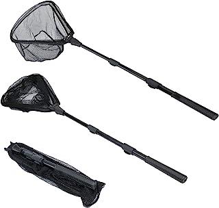 RESTCLOUD Fishing Landing Net with Telescoping Pole Handle, Fishing net Freshwater for Kids Men Women, Extend to 40-63 Inches