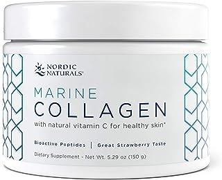 Nordic Naturals Marine Collagen, Strawberry - 5.29 oz - 4200 mg Bioactive Type I Collagen Peptides + Vitamin C - Healthy S...