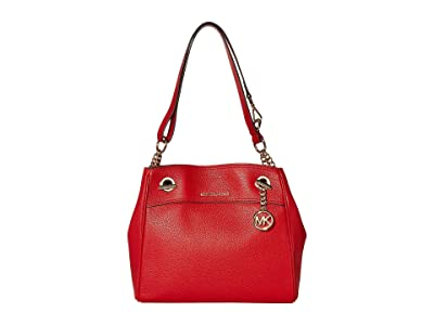 MICHAEL Michael Kors Jet Set Chain Legacy Medium Convertible Shoulder (Bright Red) Shoulder Handbags
