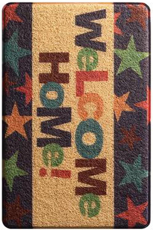 Doormat Indoor Doormat Super Absorbent Entrance Rug Low Profile All-Natural,Waterproof,Easy-to-Clean Floor mat-E 45x75cm(18x30inch)