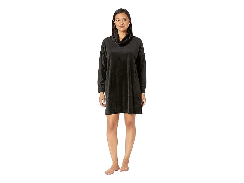 Donna Karan Lux Plush Sleepshirt (Black) Women
