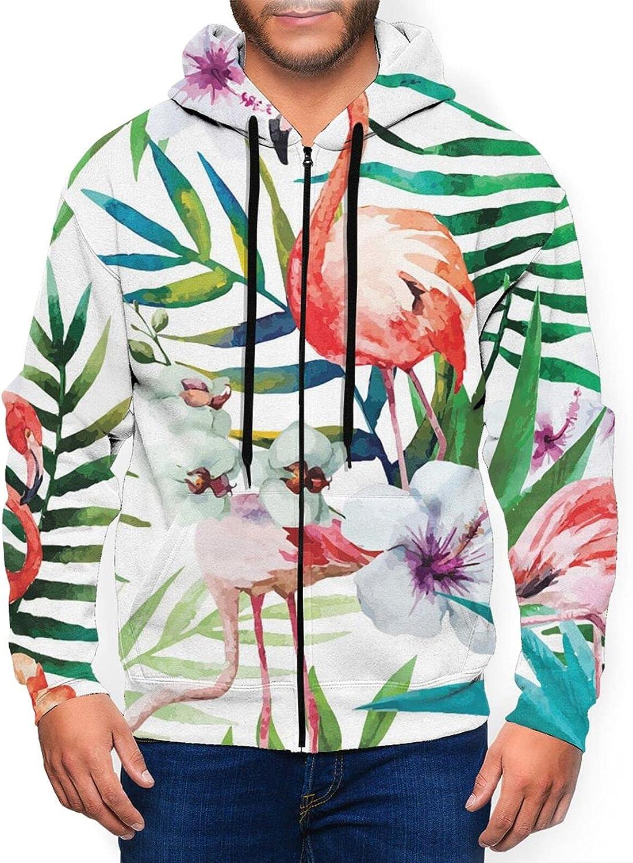 Hello Gorgeous Mens Full Zip Hoodie Tropicais Flamingos 2021 spring and summer new Nippon regular agency Sweatshi