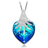 Brilla Swarovski Elements Crystal Fashion Necklace Pendants Jewelry for Women (Butterfly/Heart of...